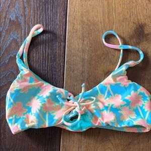 Other - Neon Palm Tree Bikini Top